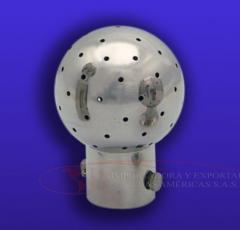 Spray Ball con clip inoxidable 304 316 tuberia limpieza ferula tanque