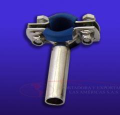 Soporte tuberia goma inoxidable 304 abrazadera ferula tubos tapon