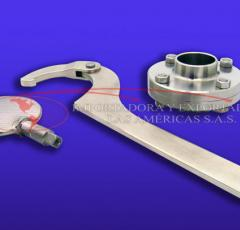 Llave de uña articulada para uso con tuerca redonda ranurada