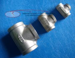 TEE NPT acero inoxidable